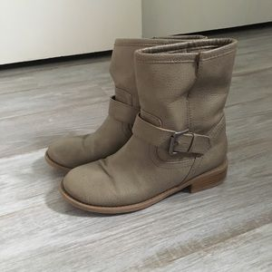 Grey Moto boots